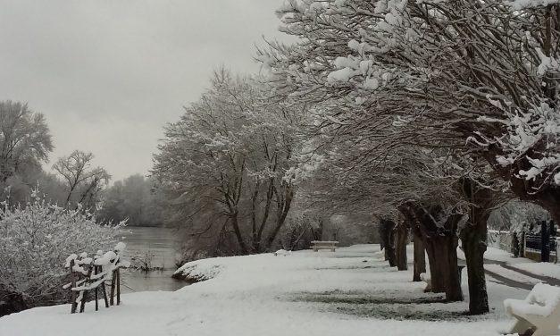 Chouzé sous la neige