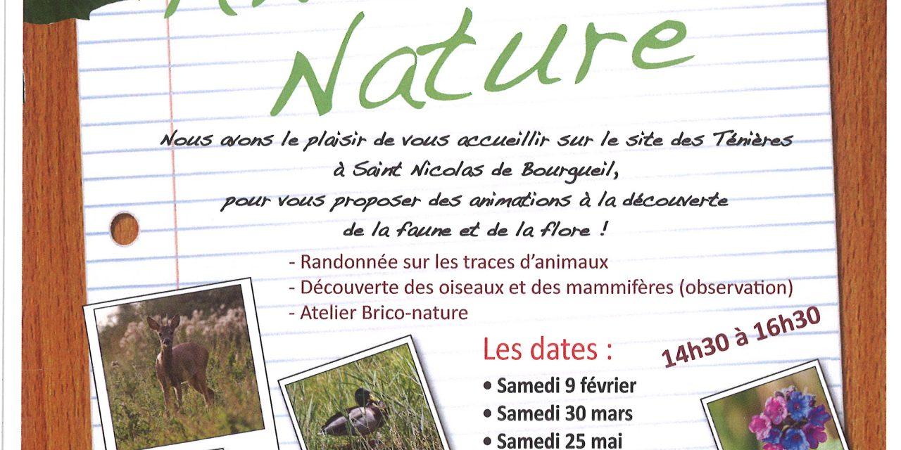 Fédération Départementale des Chasseurs d'Indre-et-Loire : Animation Nature