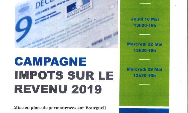 Campagne : Impôts sur le revenu 2019
