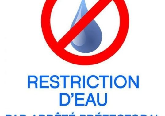 Limitation ou suspension temporaire des usages de l'eau