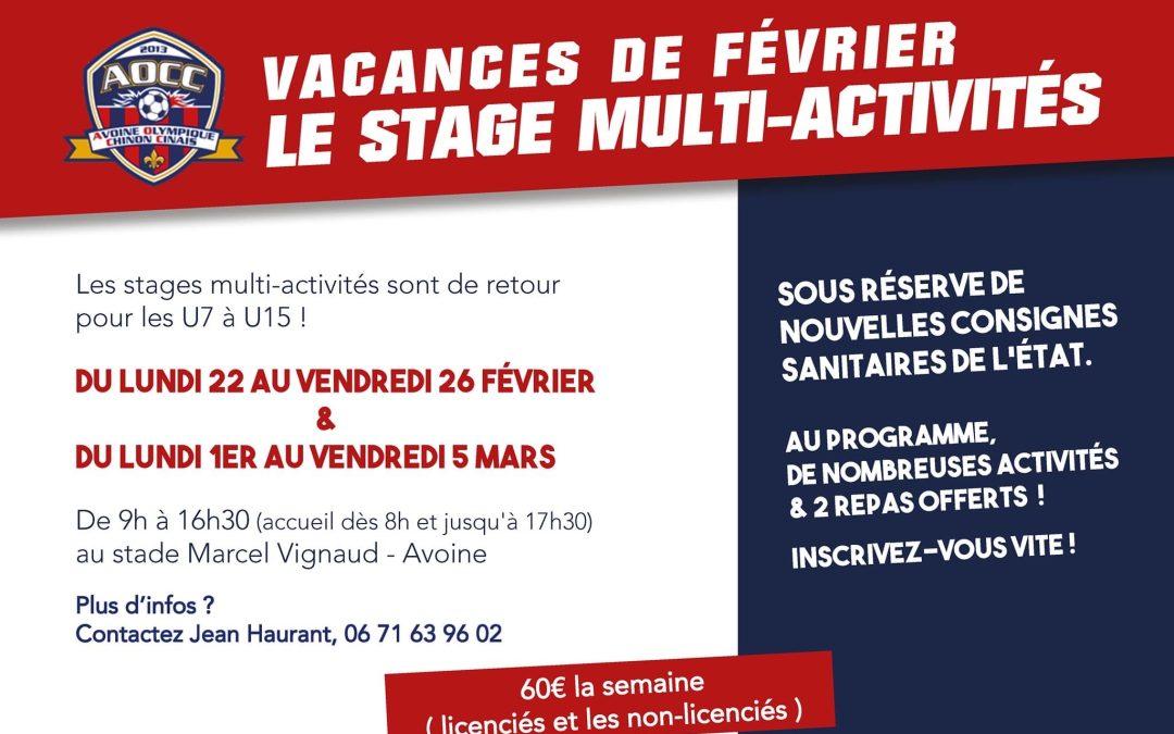 AOCC – Stage multi-activités pendant les vacances de février
